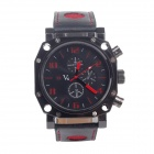 Super Speed V0015 Fashionable Men's Analog Quartz Wrist Watch - Black + White (1 x LR626)