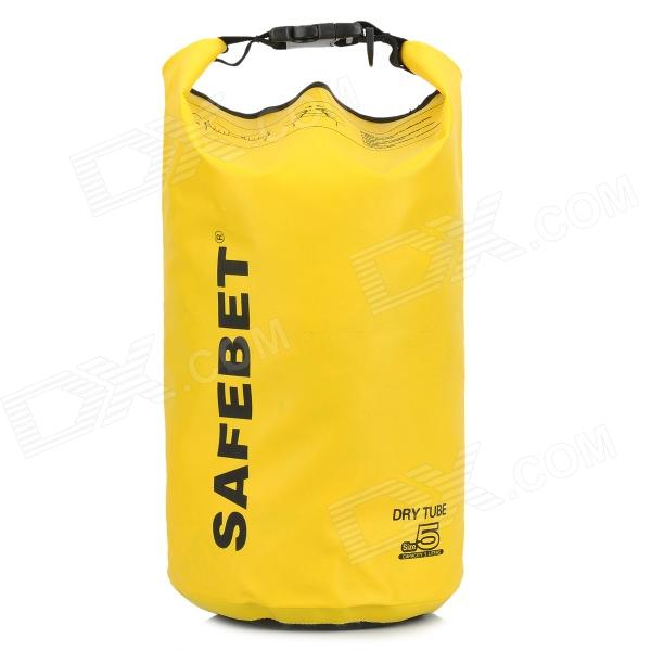 Multifunctional Waterproof Outdoor Drift PVC Storage Bag - Yellow (5L) windtour multifunction outdoor waterproof drifting bag storage bag yellow 33l