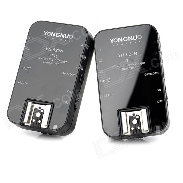 YN-622N Wireless Flash Trigger Transceiver für Nikon-Schwarz (2 PCS)
