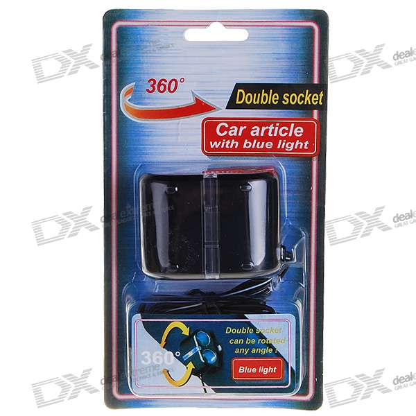 1-to-2 Car Cigarette Lighter Power Port Splitter