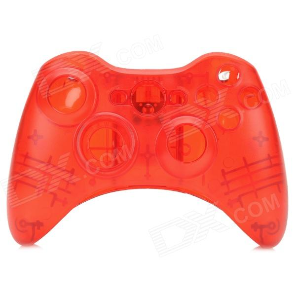 Protective ABS Full Shell Case Set for Xbox 360 Wireless Control - Translucent Red