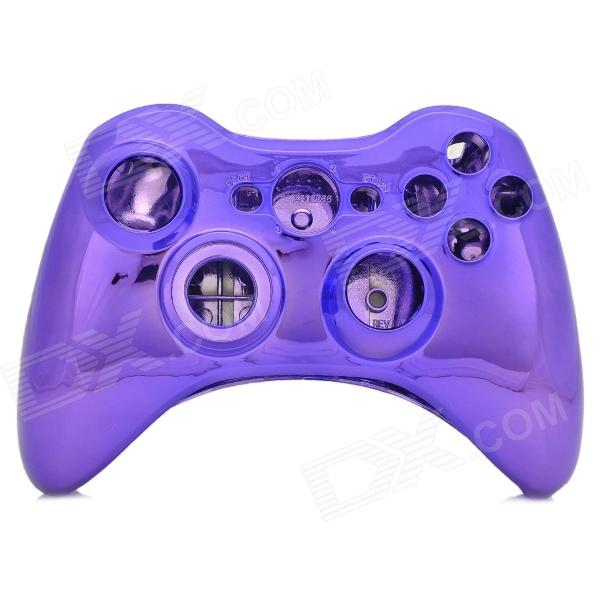 Protective Electroplating ABS Full Shell Case Set for Xbox 360 Wireless Control - Translucent Purple abs protective cover for xbox one wireless controller green multicolored 6 pcs