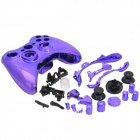 Protective Electroplating ABS Full Shell Case Set for Xbox 360 Wireless Control - Translucent Purple
