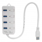 CQT-308 High-speed 5Gbps 4-port USB 3.0 Hub - White