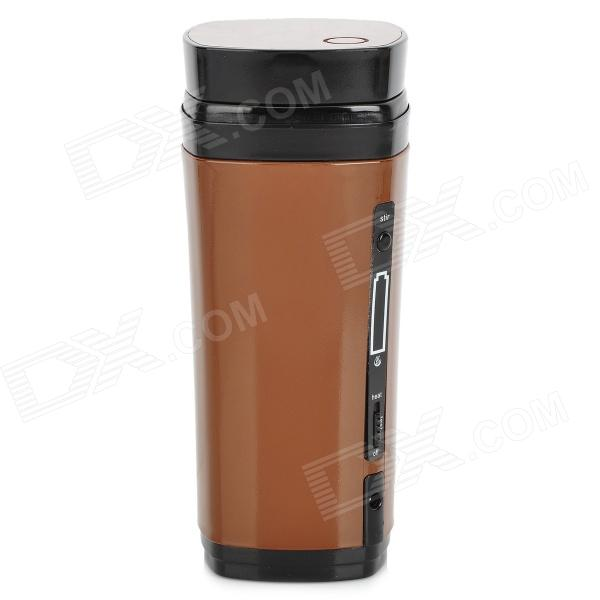USB Power Rechargeable Heating / Heat Preservation Stir Cup - Brown + Black (130mL)