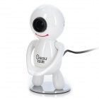 GSOU D30 Flexible 1.3MP CMOS VSS Anti-peep Webcam for Laptop / Desktop Computer - White (140cm)