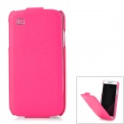 KUCHI Genuine Leather Protective Lychee Muster-Fall für Samsung Galaxy S4 i9500 - Deep Pink