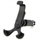 Car Cigarette Powered Charger w/ 360 Degree Rotation Bracket Holder for Iphone / Ipad / Ipod - Black