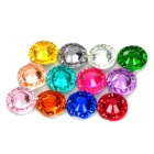 12-in-1 Round Shape 3D DIY Nail Art Acrylic Crystal Decoration - Multicolored