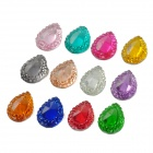 12-in-1 Water Drop Shape 3D DIY Nail Art Acrylic Crystal Decoration - Multicolored