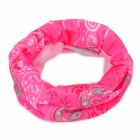 6032602 Multifunction Outdoor Sports Seamless Head Scarf - Deep Pink