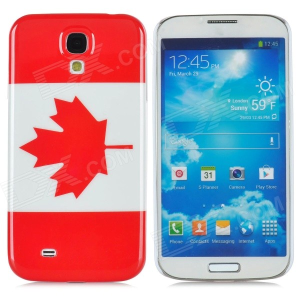 Protective Canada National Flag Pattern Plastic Back Case for Samsung Galaxy S4 /i9500 - Red + White protective cute spots pattern back case for samsung galaxy s4 i9500 multicolored
