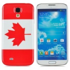 Protective Canada National Flag Pattern Plastic Back Case for Samsung Galaxy S4 /i9500 - Red + White
