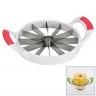 Stainless Steel Melon Cutter Slicer - White + Red + Silver