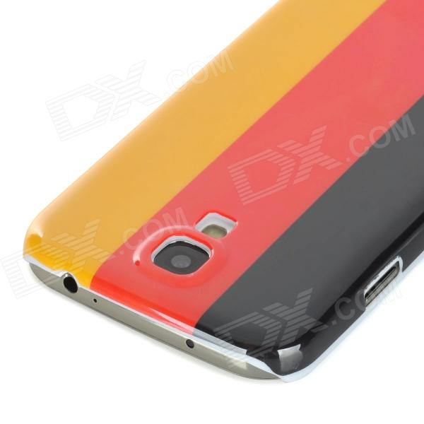 Germany National Flag Pattern Plastic Back Case for Samsung Galaxy S4 / i9500 - Yellow + Red + Black nordic popular living room chair retail simple and stylish plastic stool wholesale white yellow red black color free shipping