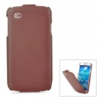 KUCHI Protective Flip Open Leather Case for Samsung Galaxy S4 / i9500 - Brown