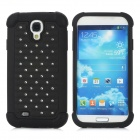 Protective Rhinestone Plastic + Silicone Back Case for Samsung Galaxy S4 i9500 - Black