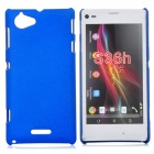 Protective Drift Sand Plastic Back Case for Sony S36H - Blue
