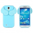 Protective Angel Wings Silicone Back Case for Samsung Galaxy S4 / i9500 - SKy Blue