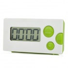 "HAPTIME YGH-116 1.85"" LCD 4-Digital Kitchen Timer - White + Green (1 x AAA)"