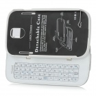 Bluetooth V3.0 50-Key Slide-out Tastatur stark Fall-Standplatz für Samsung Galaxy S4 i9500 - White