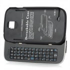 Bluetooth V3.0 50-Key Slide-out Tastatur stark Fall-Standplatz für Samsung Galaxy S4 i9500 - Schwarz