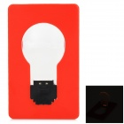 Dculex Karte Stil 0.1W 5lm 590nm 2 SMD-LED 0402 Yellow Light Night Light - Red + Black + Transparent