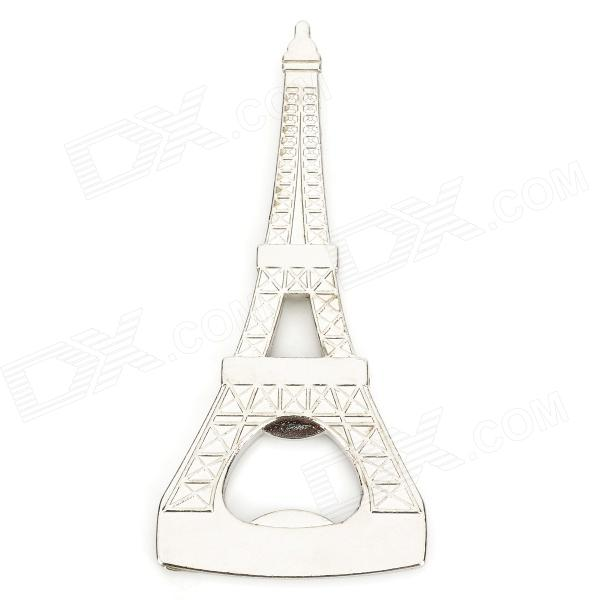 Eiffel Tower Style Stainless Steel Bottle Opener - Silver apes love gadgets slm 2 antique key style beer bottle opener black dark grey