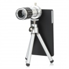 Aluminum Alloy 12X Telephoto Zoom Lens Set for Sony Xperia Z L36h - Black + Silver