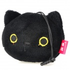 Cute Cat Style Cell Phone Screen Cleaner w/ 3.5mm Anti-Dust Plug for Iphone / Ipad - Black