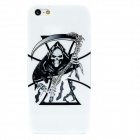 Cool Grim Reaper Pattern Protective Plastic Back Case for Iphone 5 - Black + White