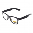 Retro Anti-Radiation UV Protection Computer Glasses - Dumb Black (Size L)