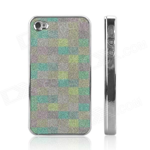 ENKAY Shimmering Powder Pattern Protective Plastic Back Case Cover for Iphone 4 / 4S - Multicolor