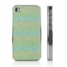 ENKAY Shimmering Powder Pattern Protective Plastic Back Case for Iphone 4 / 4S - Green+Purple+Yellow