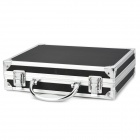 Multifunctional Plastic + Aluminum Alloy Storage Case - Black + Silver