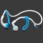 Unique Universal Sport 3.5mm Jack Ear Hook Earphone - Black + Blue