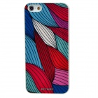 BENWIS Leaves Style Protective Plastic Back Case for iPhone 5 - Red + Blue + White + Pink