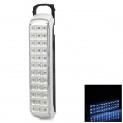DP LED-729 Rechargeable 2.52W 100lm 6000K 36-LED White Light 2-Mode Emergency Light - White + Black