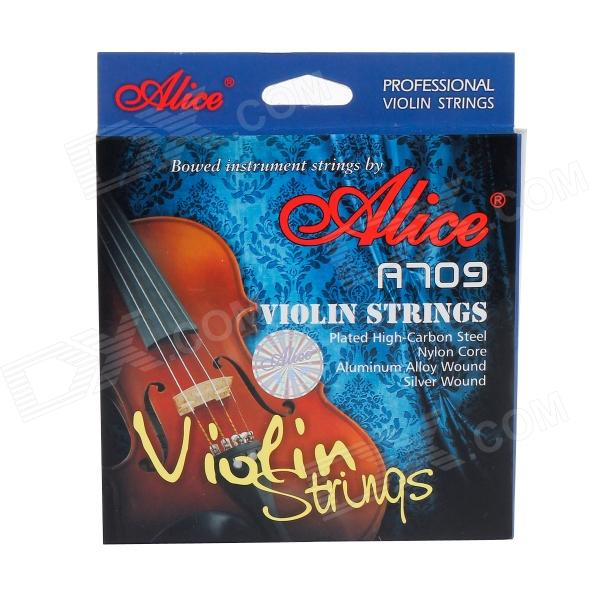 Alice A709  5-in-1 Stainless Steel Violin Strings Set handmade new solid maple wood brown acoustic violin violino 4 4 electric violin case bow included