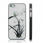 ENKAY Orchid Pattern Protective Plastic Case for Iphone 5 - Multicolor