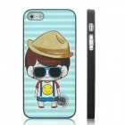 ENKAY Cool Boy Pattern Protective Plastic Case for Iphone 5 - Black + Multicolor
