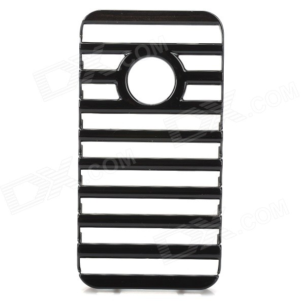 Fashion Ladder Style Protective Plastic Back Case for Iphone 4 / 4S - Black high tech and fashion electric product shell plastic mold