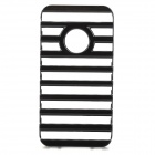 Fashion Ladder Style Protective Plastic Back Case for Iphone 4 / 4S - Black