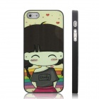ENKAY Candy Girl Pattern Protective Plastic Case for Iphone 5 - Multicolor