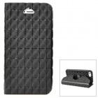 Cool Checked Style Protective Full Body Silicone Case for Iphone 5 - Black