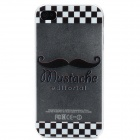 Funny Relief Mustache Design Protective ABS Frosted Back Case for Iphone 4 / 4S - Black + White