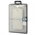 Protective PU Leather Flip-open Case w/ Stand for Iphone 5 - White