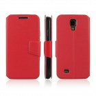 ENKAY Protective PU Leather Case Cover with Stand Function for Samsung Galaxy S4 / i9500 - Red