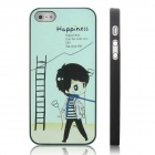 ENKAY Happiness Boy Pattern Protective Plastic Case for Iphone 5 - Black + Multicolor