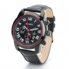 Curren 8100 PU Leather Band Analog Quartz Wrist Watch - Black